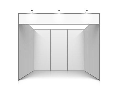Blank white trade exhibition booth system stand