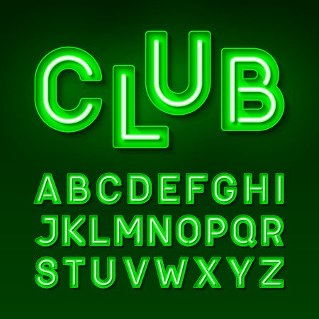 fluorescent: Broadway night club vintage style neon font