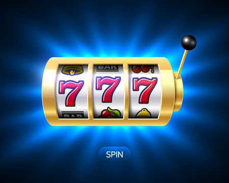 Lucky sevens jackpot, slot machine illustration