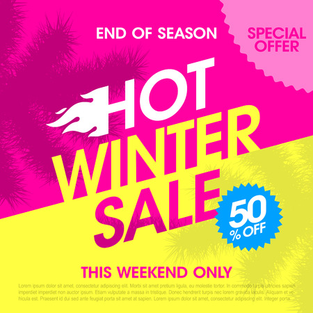 big: End of season hot winter sale banner