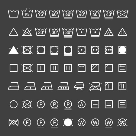 iron: Laundry symbols collection