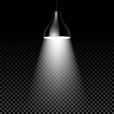 modern interior: Hanging lamp on black transparent background