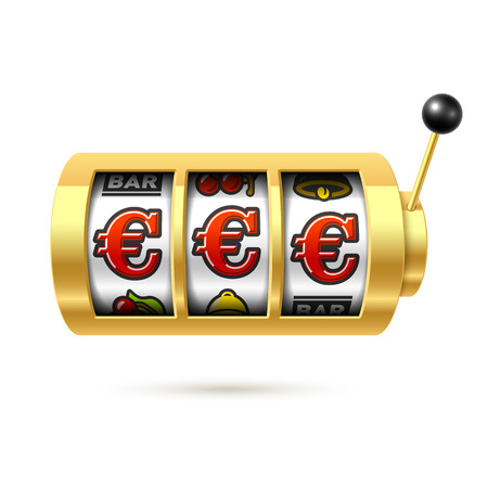Slot machine with euro jackpot