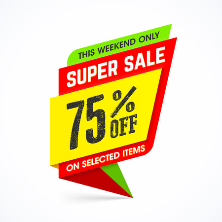 This weekend only super sale banner Illustration