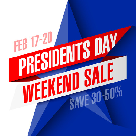 Presidents Day sale banner Stock Vector - 71351168