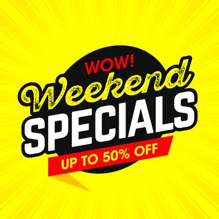 Wow! Weekend Specials bright banner