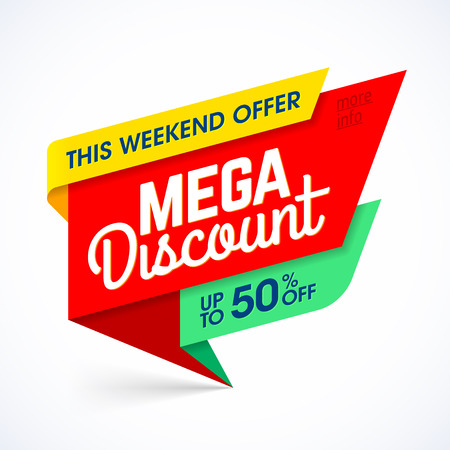 layout: Mega discount weekend special offer banner