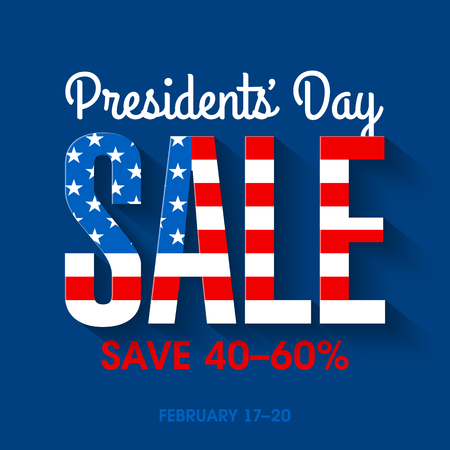 democracia: Bandera de la venta del Día del Presidente