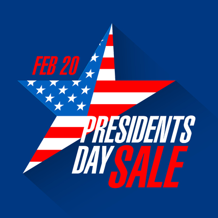 star background: Presidents Day sale banner