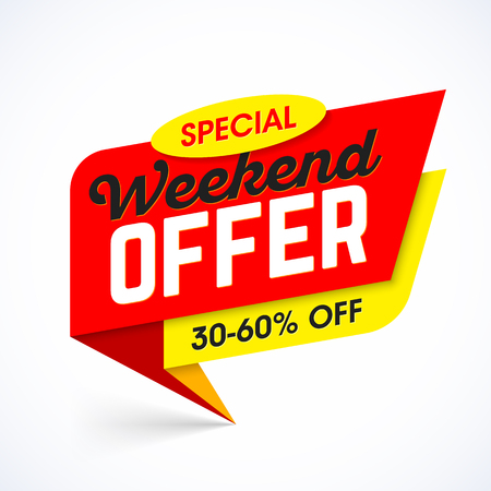 Special Weekend Offer sale banner template.