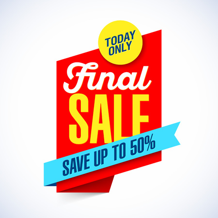 Special final sale banner template.