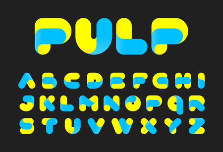 pulp: Stylised twisted pulp font Illustration