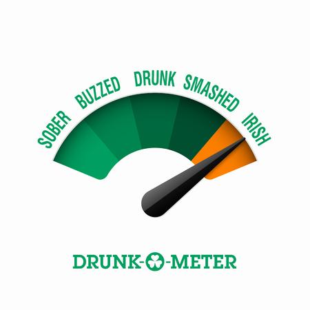 cloverleaf: Drunk-O-Meter, 17 March Saint Patricks Day celebration
