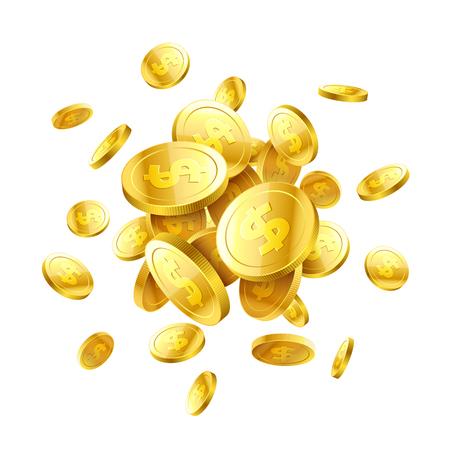 Gold 3d coins