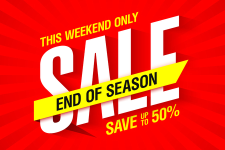 End of season weekend sale banner