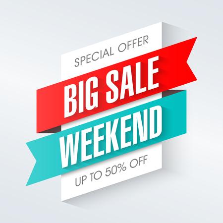 Big Sale Weekend, banner specjalny Ilustracje wektorowe