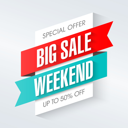 Big Sale Weekend, special offer banner Reklamní fotografie - 74814303