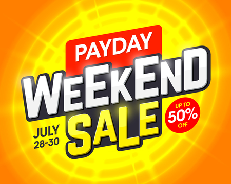 Payday Weekend Sale banner design template
