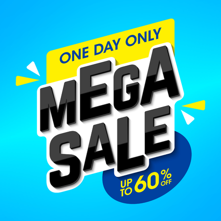 business sign: Mega Sale advertising banner