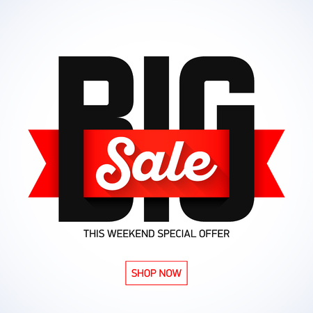 Big Sale weekend special offer banner Ilustrace