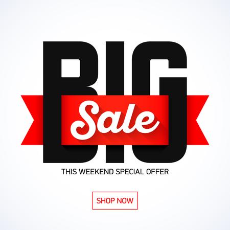 Big Sale weekend special offer banner Stock Illustratie