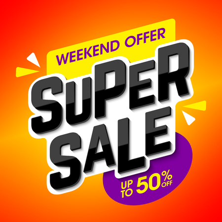 discount banner: Super Sale weekend special offer banner