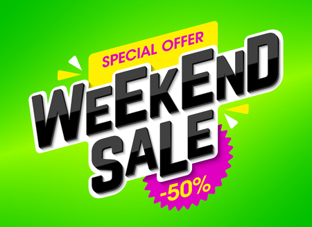 discount banner: Weekend Sale special offer banner
