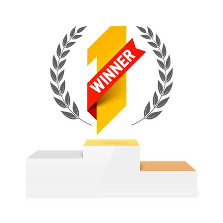 First Winners podium