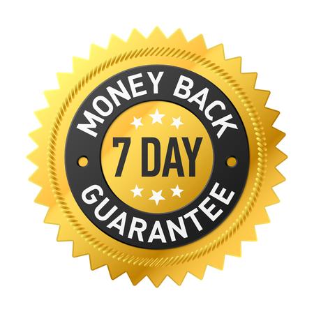 7 dagen geld terug garantie label