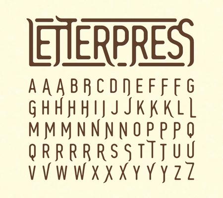 特殊文字を活版印刷スタイルの書体