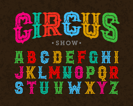 Circus style vintage font
