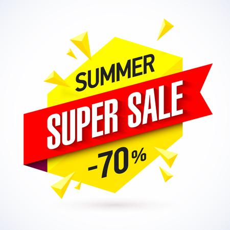 Summer Super Sale banner design template