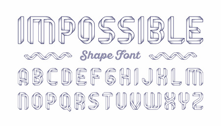 modern: Impossible shape font