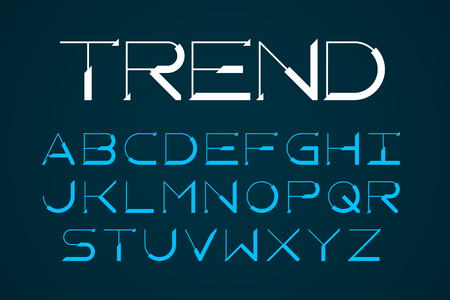 Modern thin font, trendy style English alphabet letters