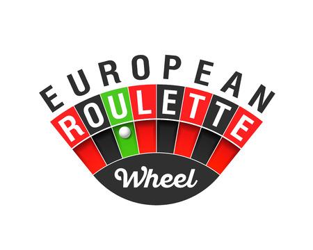 wheel of fortune: European Roulette wheel sign