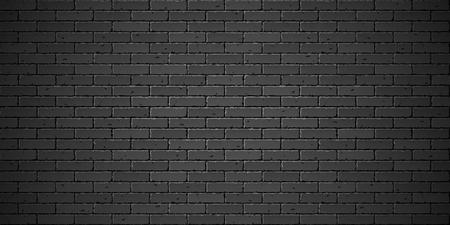 dirty: Black brick wall texture Illustration