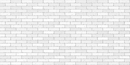 White brick wall texture seamless illustration