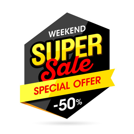Weekend Super Sale banner Illustration