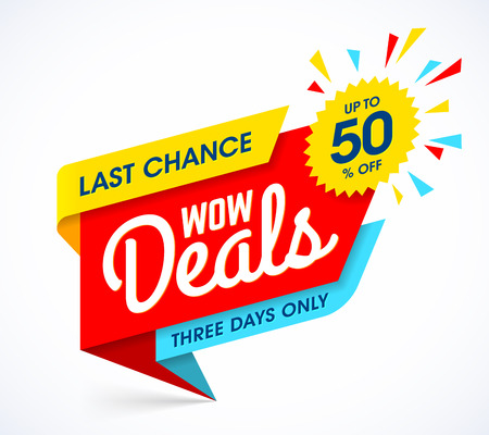 WOW Deals sale banner design
