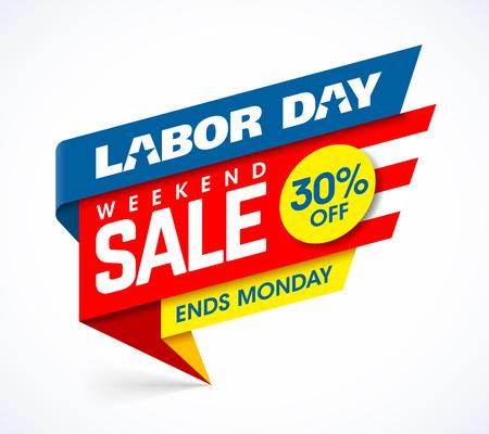 労働者の日の週末セールのバナー デザイン