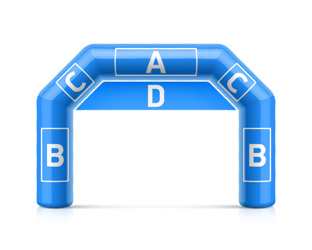 Inflatable arch illustration. Inflatable archway template with spaces for sponsors advertising. Can be used as start or finish line for different outdoor sport events