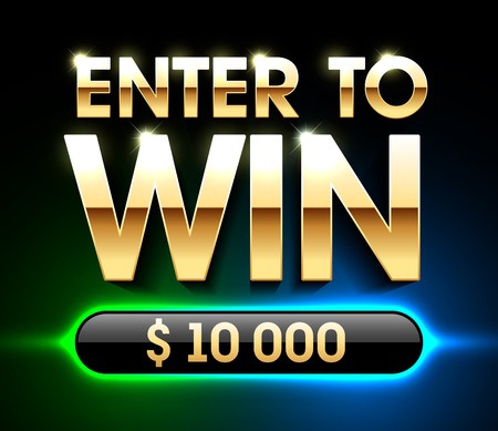 Enter To Win banner background for lottery or casino games such as poker, roulette, slot machines or card games Stock Vector - 86470267