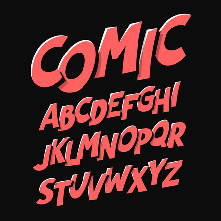 Comics style font  イラスト・ベクター素材