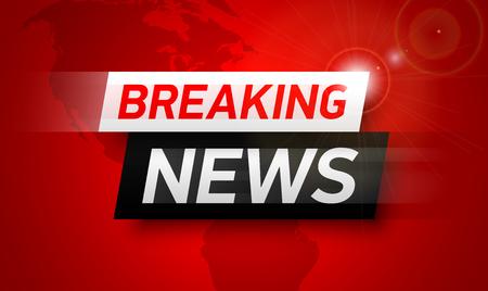 Breaking news background, World Global TV news banner design