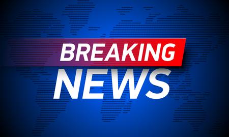 Breaking News Hintergrund, World Global TV Nachrichten Banner-Design