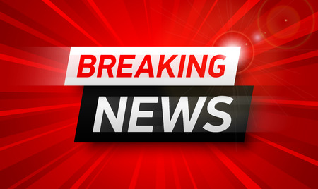 Breaking news background, World Global TV news banner design