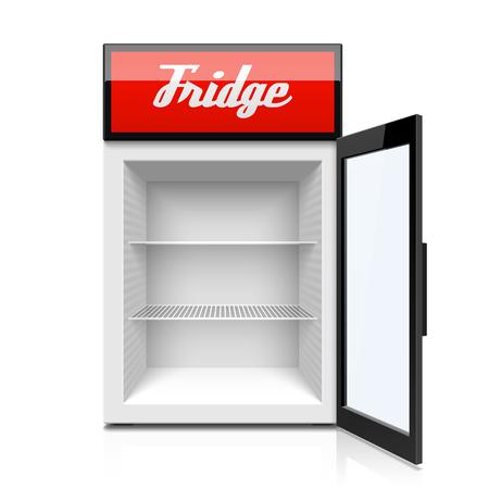 Glass door fridge icon.