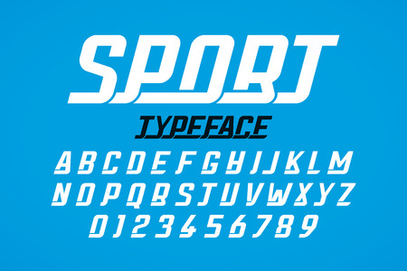 Retro style modern Sport font