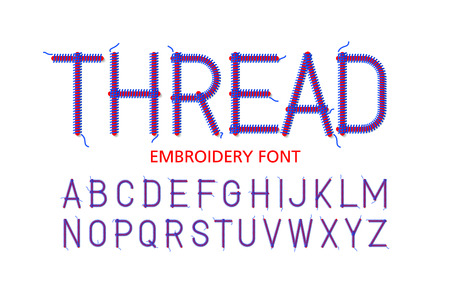 Embroidery font Thread Illustration
