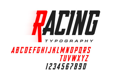 Sport style modern font, condensed typeface
